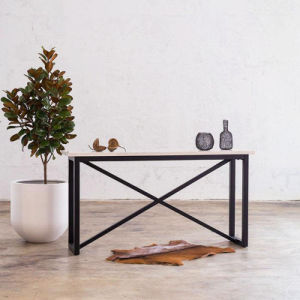 Metal Legs Marble Top Console Table