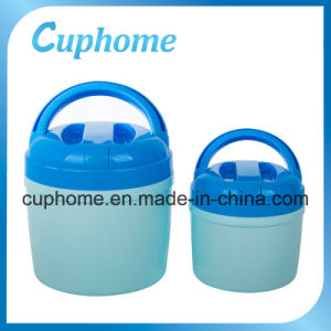 Plastic Thermal Insulated Food Container with Stainless Steel Liner