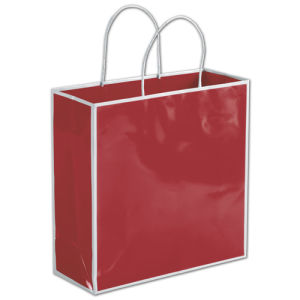 6344b4761a China Bridge Red Shoppers Paper Gift Bags White Paper Wedding Bags ...