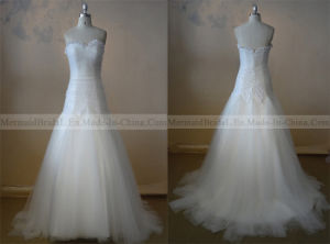 a-Line Ivory Sequin Tulle Wedding Dress