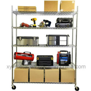 Chrome Metal Movable Wire Shelving pictures & photos