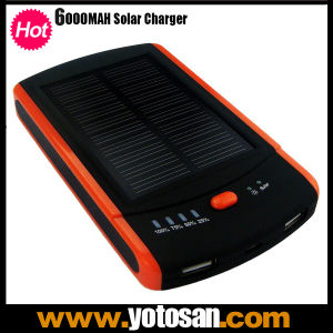 Real Capacity 6000mAh Solar Charger with Dual USB Output