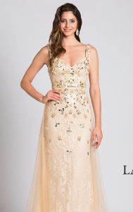 Champagne Party Gowns A-Line Pearls Lace Beaded Bridesmaid Evening Dresses Z5086 pictures & photos