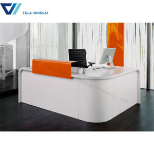 White High Gloss Reception Counter Desk pictures & photos