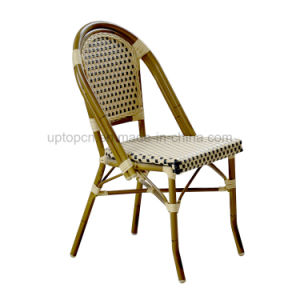 French Bistro Bamboo Look Outdoor Aluminium Rattan Chair (SP OC443)