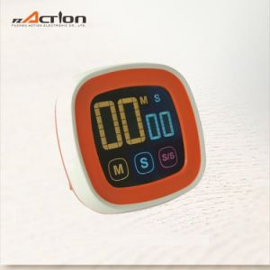 Touch Setting Digital Count up Down Kitchen Timer with Magnet pictures & photos