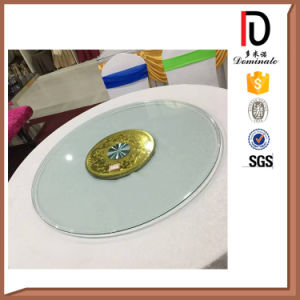 2015 New Style Rotating Tempered Glass Lazy Susan pictures & photos