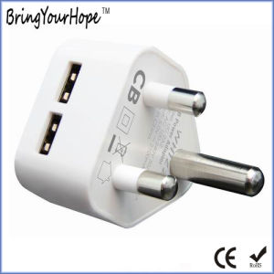 South Africa Za Dual USB Charger AC Adapter (XH-UC-022) pictures & photos