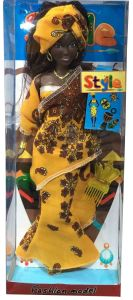 Black African Dolls Black Skin Dolls Toy 12.5 Inch Dark Skin African Girl Doll pictures & photos