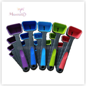 Factory Wholesale Bicolor Measuring Spoon Set of 4 (15ml 5ml 2.5ml 1.25ml) pictures & photos