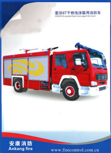 Hot Sale HOWO 6t Powder/Foam Twin-Agent Fire Truck pictures & photos