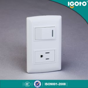 L316 American Standard 1 Gang 1 Way Switch American Socket Wall Switch Socket pictures & photos