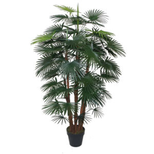 Artificial Five Finger Palm Tree in 8′′ Plastic Pot