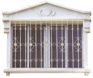 China Wrought Steel Window Protecting Railmodern Window Grill