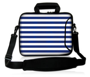 Wave Stripe Style Laptop Sleeve Bag with Shoulder Strap, Custom 13 Inch Neoprene Laptop Case pictures & photos