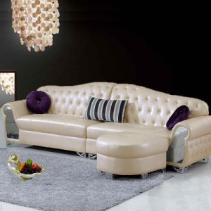 China Modern European Style Living Room Leather Corner Sofa - China ...