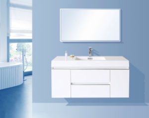 2016 Glossy White Painting Bathroom Cabinet (Chipboard Mirror)