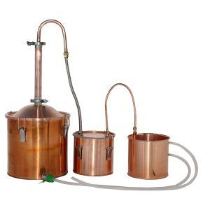 Kingsunshine 18L/5gal Copper Distiller Home Spirits Water Hydrosol  Distiller Multiple Use Brew Stills