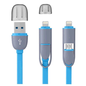 Universal 2 in 1 Micro USB Data Sync Cable for iPhone for Android pictures & photos