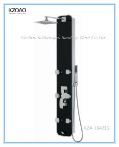 Kza-16421g Customized High Level Tempered Glass Shower Panel