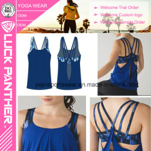 Custom Women′s Sexy Workout Tanktop and Bra Two in One