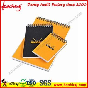 A4 / A5 Wholesale Customized Logo Colored PP Hard Plastic Cover Double Ring Spiral Notebooks / Bound Journals for School pictures & photos