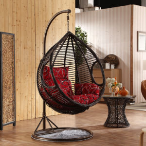 Factory Outdoor Swing, Rattan Furniture, Indoor Egg Hanging Chair (D017B) pictures & photos