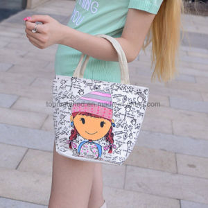 Fashion Cartoon Printing Women Handbags Ladies Canvas Tote Shopping Bags pictures & photos