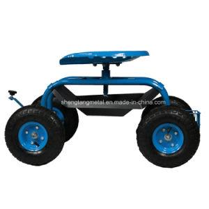 Garden Tractor Seat Cart Rolling Garden Metal Swing Seat
