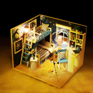 Affordable with Light and Furniture DIY Dollhouse Miniature Wooden House pictures & photos