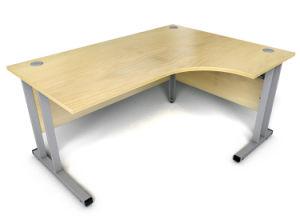 Mfc L Shape Top Steel Leg Office Desk