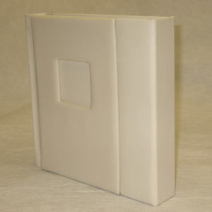 "12""X12"" Ivory Self Mount Wedding Photo Album - 30 Pages (Engraving Available)"