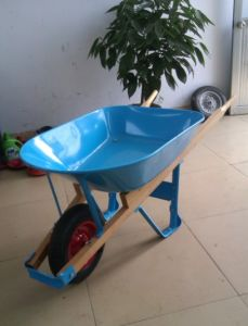 Wooden Handle Wheelbarrow/Wheel Barrow Wh5400 pictures & photos