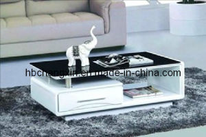 High Quality New Modern Wooden Glass Coffee Table pictures & photos