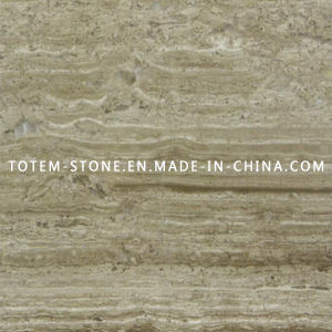Cheap Yellow Stone Wooden Vein Marble Floor Tile for Flooring