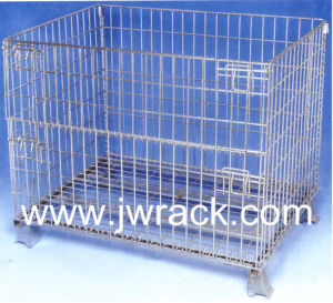 Collapsibe Warehouse Wire Rolling Storage Cage pictures & photos