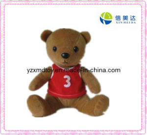 Plush Brown Teddy Bear Toy with a Red T-Shirt (XMD-F031) pictures & photos