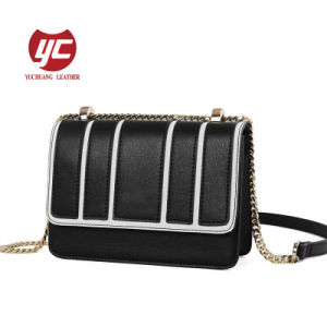 Handbag Factory Las Leather Stripe Crossbody Bag