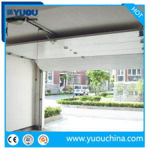 Chinese Residential Automatic Overhead Garage Doors Panel and Hardwares / Garage Doors with Pedestrian Doors