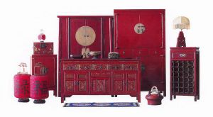 Delicieux Oriental Style Chinese Antique Furniture Red Group