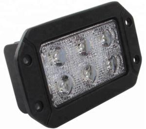 18w High Quality Square Spot Flush Mount Led Work Light Bar Bumper Off Road Truck For Jeep Rear Fog Lamp 4x4 Pickups
