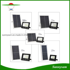 Outdoor Security Solar Landscape Lighting 25W/35W/55W/75W/300W LED Solar Flood Light with Power and Charging Indicator