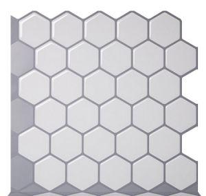 Hexagon Vinyl Sticker Self Adhesive Wallpaper 3d Peel And Stick Square Wall Tiles For Backsplash