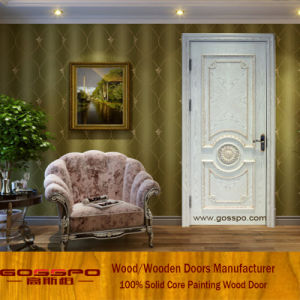 White Paint Mahogany Solid Wood Door Designs (GSP2-079) pictures & photos