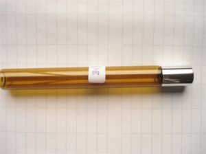 Amber Roll-on Screwed Glass Bottle for Cosmetic 128mm