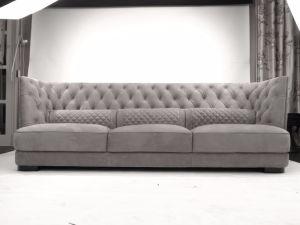Original Italian Design Nubuck Leather Fabric Mix Upholstered Livingroom  Furniture Series