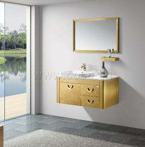 Golden Stailess Steel Bathroom Cabinet (BV2011-019) pictures & photos