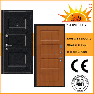 Inside MDF Panel Decorative Steel Doors (SC-A204) pictures & photos