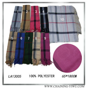 2014 Fashion Viscose Scarf with Neutral Style (LA13005)