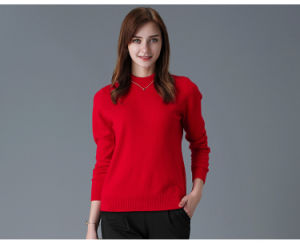 Women′s Cashmere Sweater with Round Neck